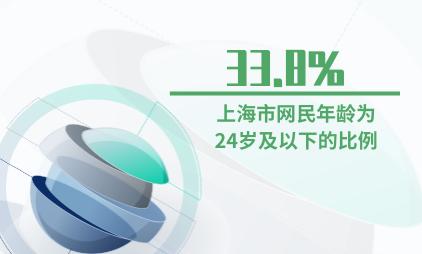 互联网行业数据分析:2019年上海市网民年龄为24岁及以下的比例为33.8%