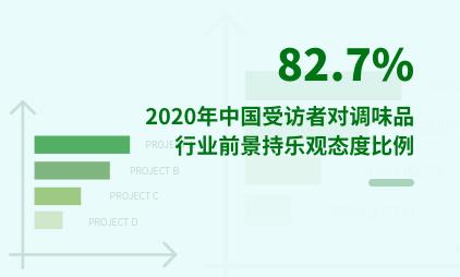 调味品行业数据分析:2020年中国82.7%受访者对调味品行业前景持乐观态度