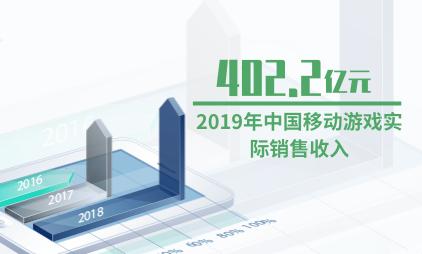 游戏行业数据分析:2019年中国移动游戏实际销售收入402.2亿元