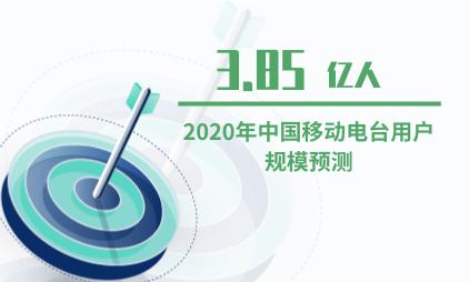 音频大发一分彩数据分析:2020年中国移动电台用户规模预计达3.85亿人