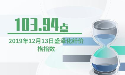 服装行业数据分析:2019年12月13日盛泽化纤价格指数为103.94点