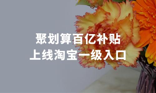 春节战役打响!聚划算百亿补贴上线淘宝一级入口,20亿春节补贴今日启动