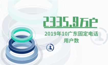 电话行业数据分析:2019年10月广东固定电话用户数为2335.9万户