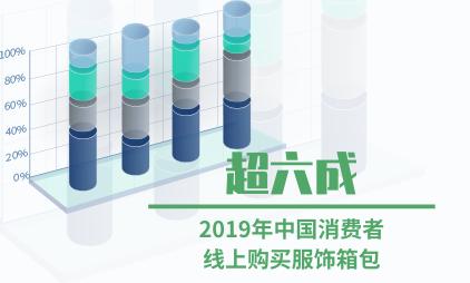 零售行业数据分析:2019年超六成中国消费者线上购买服饰箱包