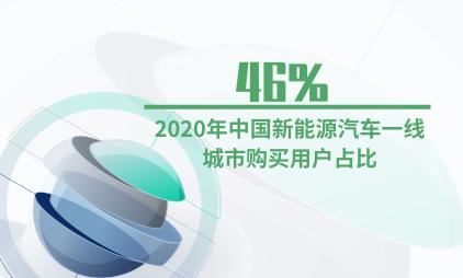 汽车行业数据分析:2020年中国新能源汽车一线城市购买用户占比46%