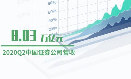 证券行业数据分析:2020Q2中国证券公司营收8.03万亿