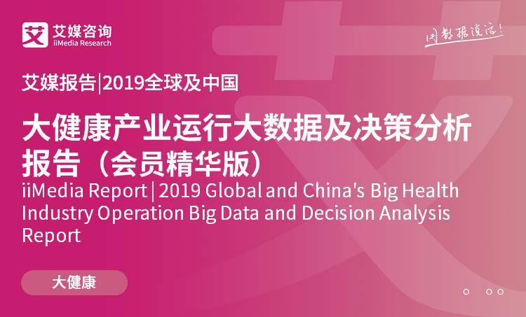 艾媒报告 |2019全球及中国大健康产业与细分市场发展现状及投资机遇分析报告(会员精华版)