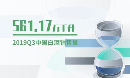 白酒行业数据分析:2019Q3中国白酒销售量约为561.17万千升