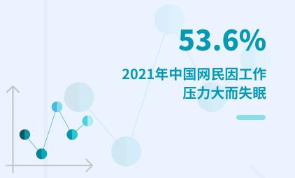 睡眠经济行业数据分析:2021年中国53.6%网民因工作压力大而失眠