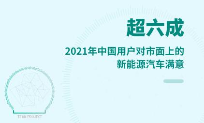汽车行业数据分析:2021年中国超六成用户对市面上的新能源汽车满意