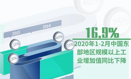 工业数据分析:2020年1-2月中国东部地区规模以上工业增加值同比下降16.9%