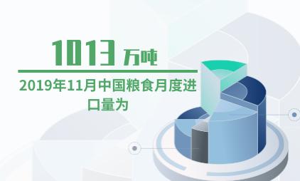 粮食行业数据分析:2019年11月中国粮食月度进口量为1013万吨