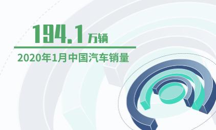 汽车行业数据分析:2020年1月中国汽车销量为194.1万辆