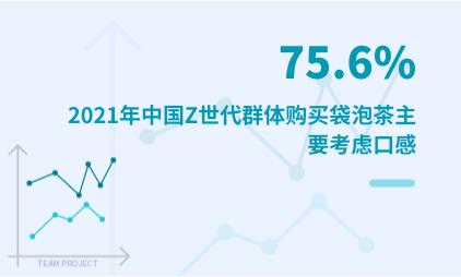 袋泡茶行业数据分析:2021年中国75.6%Z世代群体购买袋泡茶主要考虑口感