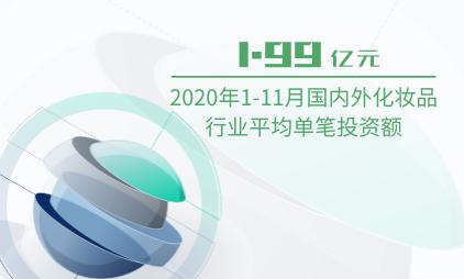 化妆品行业数据分析:2020年1-11月国内外化妆品行业平均单笔投资额为1.99亿元