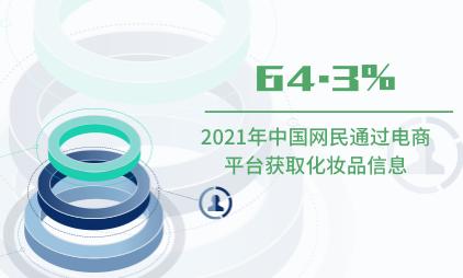 化妆品行业数据分析:2021年中国64.3%网民通过电商平台获取化妆品信息