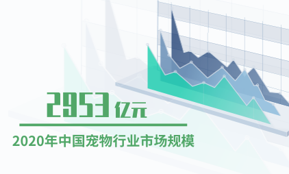 宠物行业数据分析:2020年中国宠物行业市场规模为2953亿元