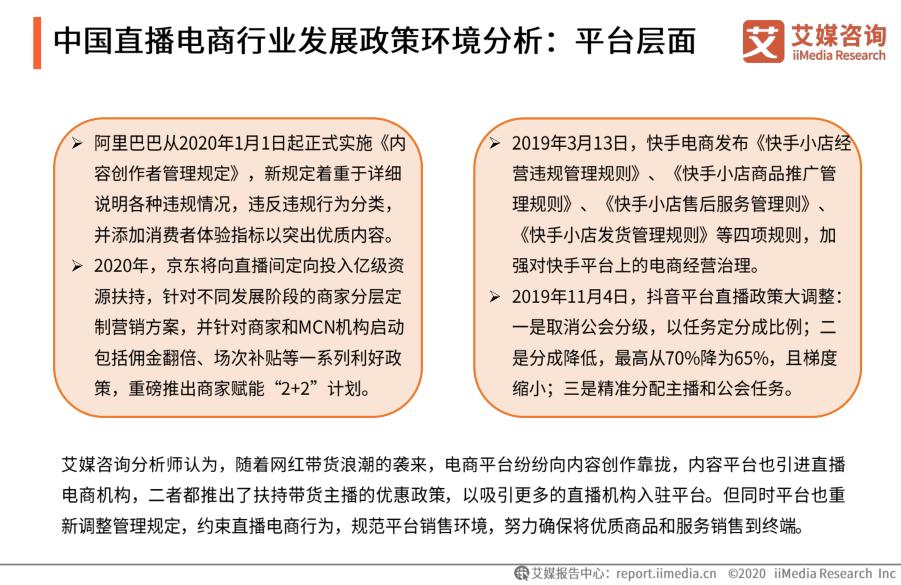 中国直播电商行业发展政策环境分析:平台层面