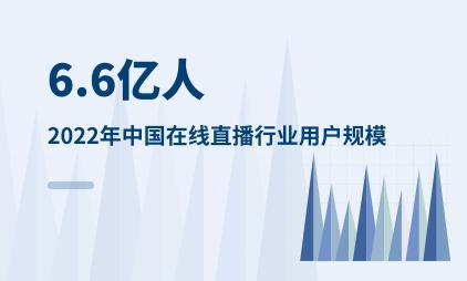 在线直播行业数据分析:2022年中国在线直播行业用户规模预计达6.6亿人