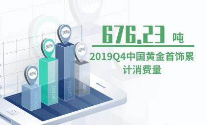 黄金行业数据分析:2019Q4中国黄金首饰累计消费量为676.23吨