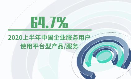 企业服务行业数据分析:2020上半年64.7%中国企业服务用户使用平台型产品/服务