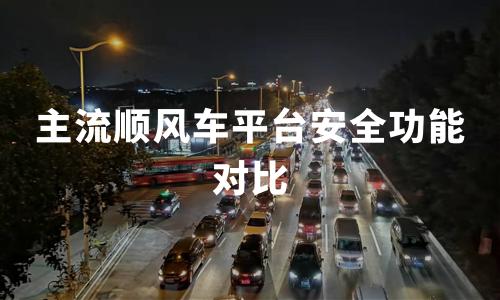 2020年中国主流顺风车平台大发极速快三功能对比及案例研究