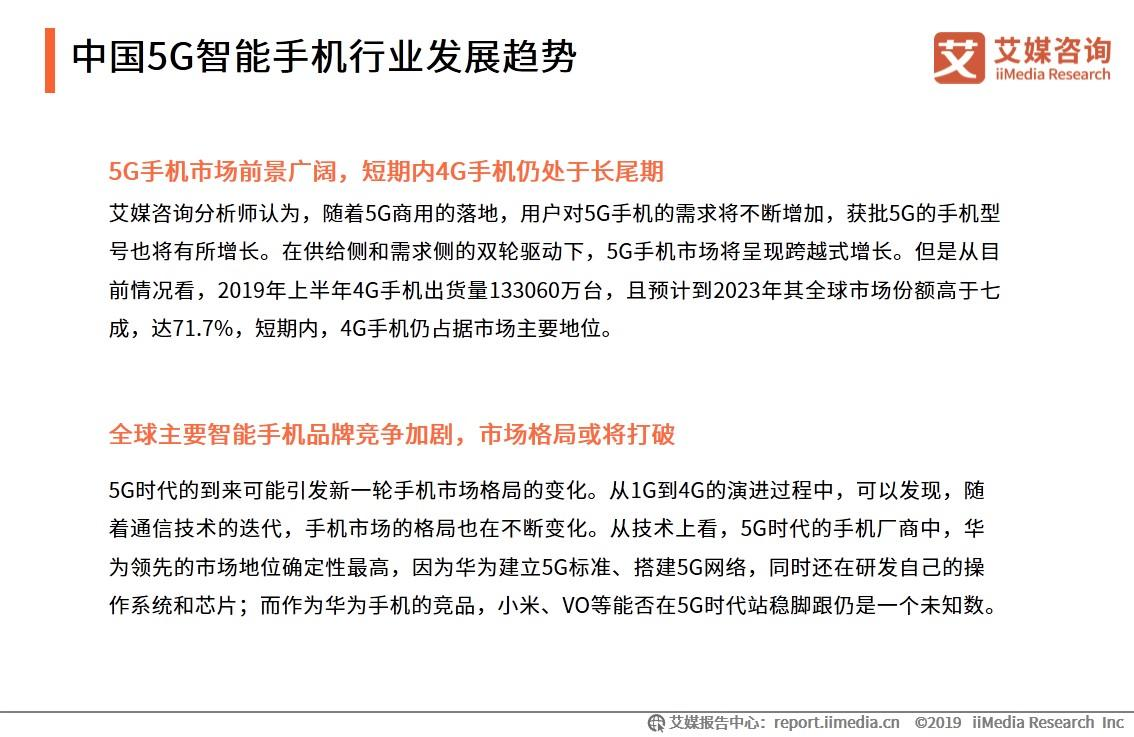 中国5G智能手机行业发展趋势(一)