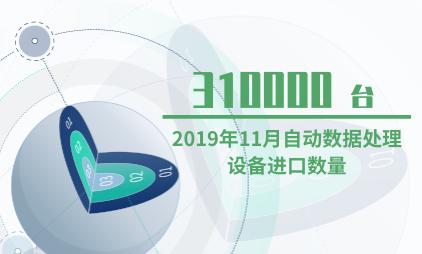 自动设备行业数据分析:2019年11月自动数据处理设备进口数量为310000台