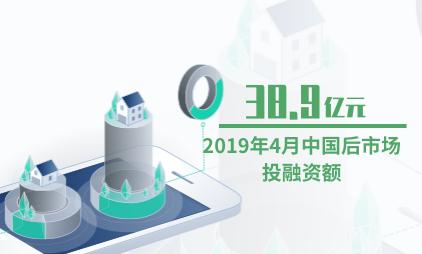 汽车后市场行业数据分析:2019年4月中国后市场投融资额为38.9亿元