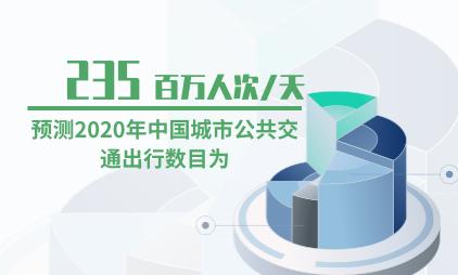公共交通行业数据分析:预测2020年中国城市公共交通出行数目为235百万人次/天