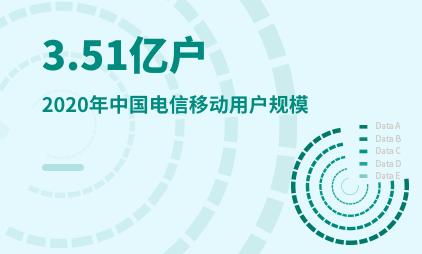 通信行业数据分析:2020年中国电信移动用户规模达到3.51亿户