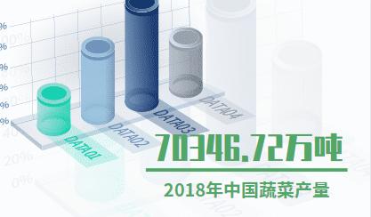 蔬菜行业数据分析:2018年中国蔬菜产量为70346.72万吨