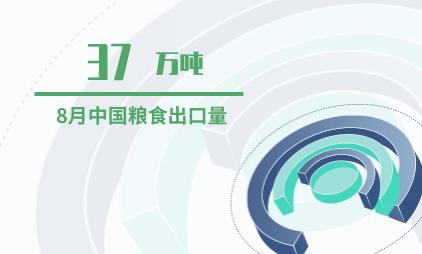 粮食行业数据分析:2019年8月中国粮食出口37万吨