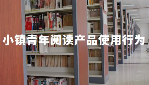 2019中国小镇青年移动阅读产品使用行为分析