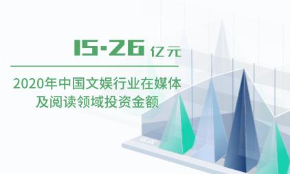 文娱行业数据分析:2020年中国文娱行业在媒体及阅读领域投资15.26亿元