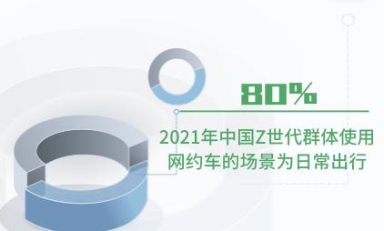 共享出行行业数据分析:2021年中国80%Z世代群体使用网约车的场景为日常出行