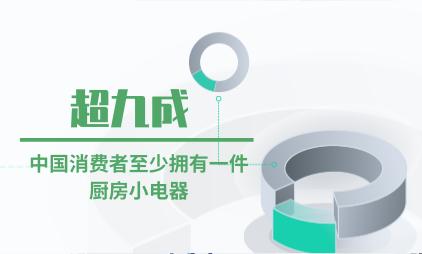 网红小家电行业数据分析:超九成中国消费者至少拥有一件厨房小电器