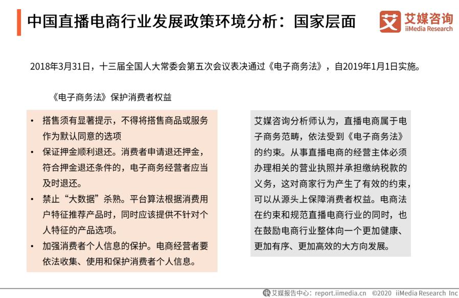中国直播电商行业发展政策环境分析:国家层面