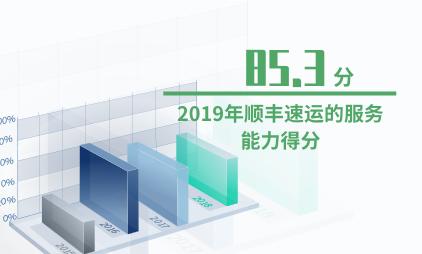 快递行业数据分析:2019年顺丰速运的服务能力得分达85.3分