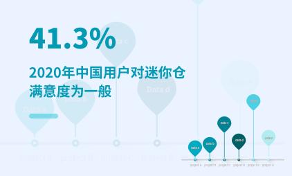 迷你仓行业数据分析:2020年中国41.3%用户对迷你仓的满意度为一般
