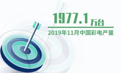 电视行业数据分析:2019年11月中国彩电产量为1977.1万台