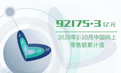 零售行业数据分析:2020年1-10月中国网上零售额累计值为92175.3亿元