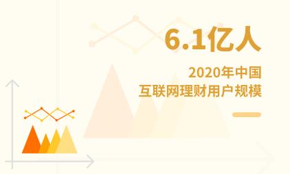 理财行业数据分析:2020年中国互联网理财用户规模达6.1亿人