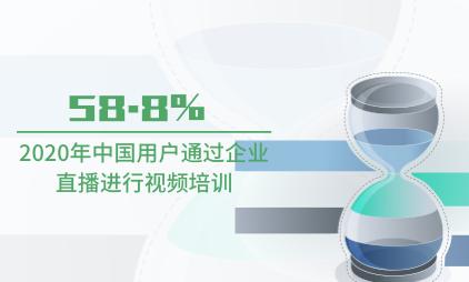 企业直播行业数据分析:2020年中国58.8%用户通过企业直播进行视频培训