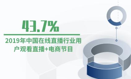 直播行业数据分析:2019年中国43.7%在线直播行业用户观看直播+电商节目