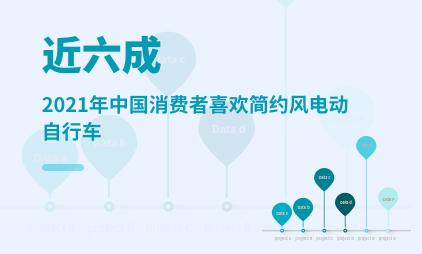 自行车行业数据分析:2021年中国近六成消费者喜欢简约风电动自行车