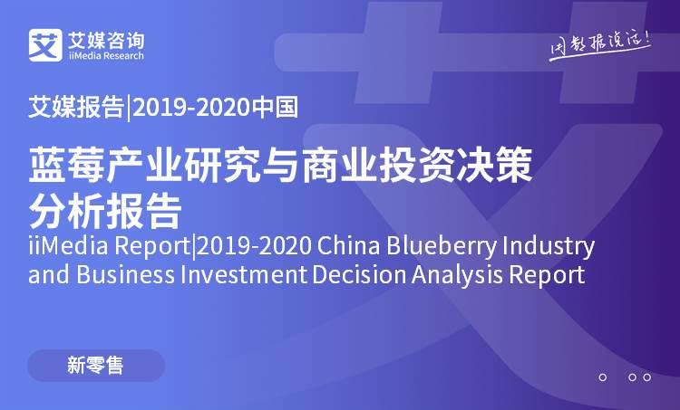 艾媒报告 |2019-2020中国蓝莓产业研究与商业投资决策分析报告