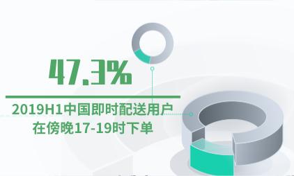 即时配送行业数据分析:2019H147.3%的中国即时配送用户在傍晚17-19时下单