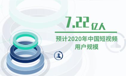 短视频行业数据分析:预计2020年中国短视频用户规模达到7.22亿人