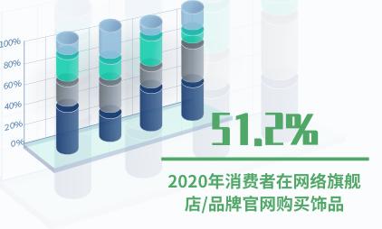 饰品行业数据分析:2020年51.2%消费者在网络旗舰店/品牌官网购买饰品